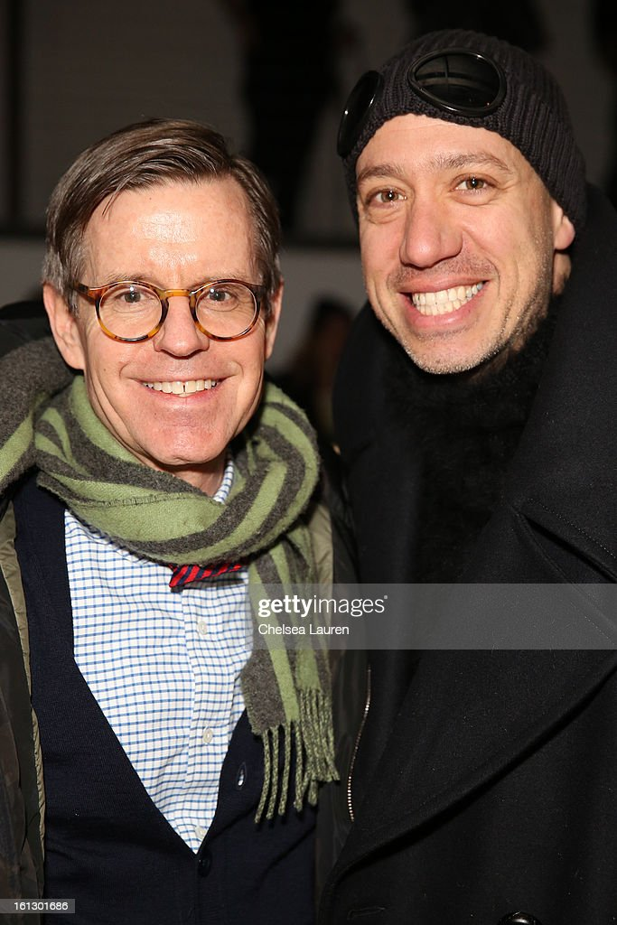 Co-founder of LaForce + Stevens James LaForce (L) and TV personality <a gi-track='captionPersonalityLinkClicked' href=/galleries/search?phrase=Robert+Verdi&family=editorial&specificpeople=209358 ng-click='$event.stopPropagation()'>Robert Verdi</a> attend the Rebecca Taylor fall 2013 fashion show during Mercedes-Benz Fashion Week at Highline Stages on February 9, 2013 in New York City.