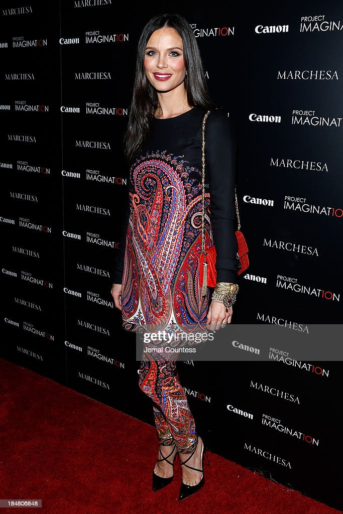 Co-Founder of Marchesa and first time film director Georgina Chapman walks the carpet at Canon's Project Imaginat10n screening of 'A Dream of Flying,' a short film by Georgina Chapman at Crosby Street Hotel on October 16, 2013 in New York City.