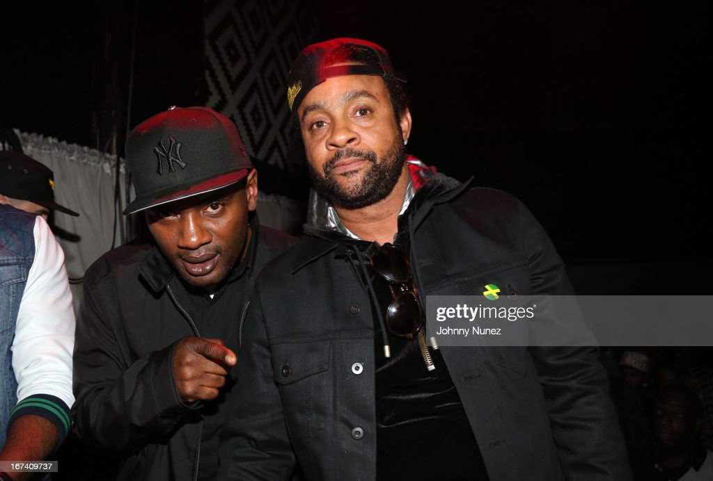 Co-founder of Massive B Sound System and WQHT radio personality Jabba and recording artist Shaggy attend Hot 97's Who's Next Live: Reggae Edition at S.O.B.'s on April 24, 2013 in New York City.