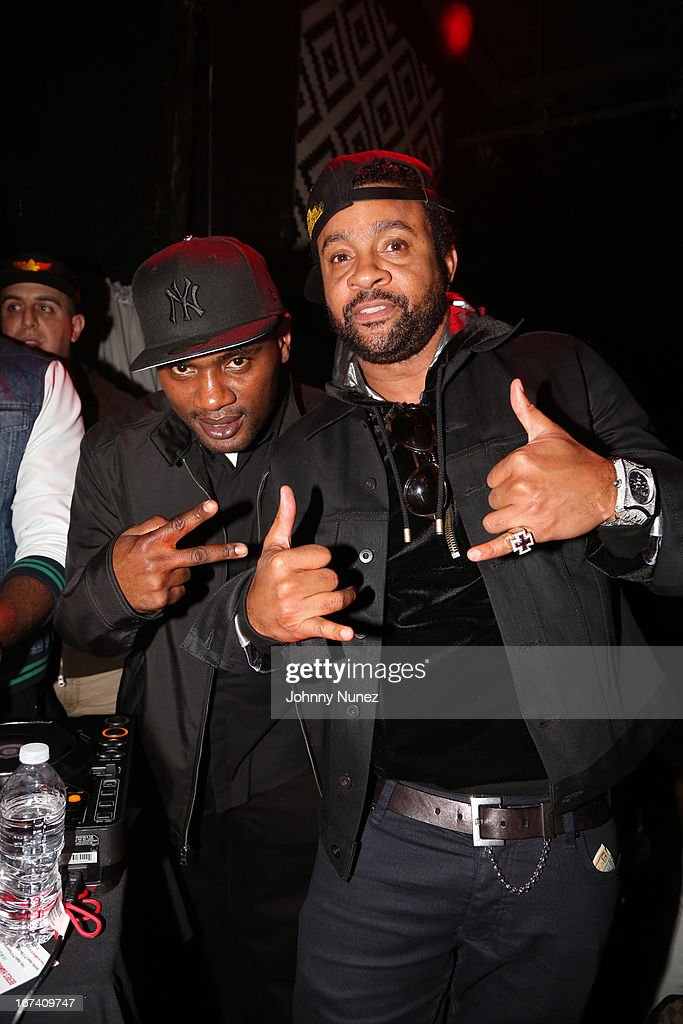 Co-founder of Massive B Sound System and WQHT radio personality Jabba and recording artist <a gi-track='captionPersonalityLinkClicked' href=/galleries/search?phrase=Shaggy+-+Singer&family=editorial&specificpeople=210859 ng-click='$event.stopPropagation()'>Shaggy</a> attend Hot 97's Who's Next Live: Reggae Edition at S.O.B.'s on April 24, 2013 in New York City.