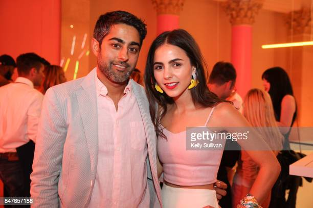 CoFounder of Museum of Ice Cream Manish Vora and Founder and Creative Director of Museum of Ice Cream Maryellis Bunn pose for a photo during the...