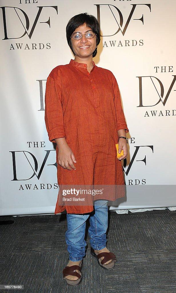 Co-Founder of Prajwala Sunitha Krishnan attends 2013 DVF Awards at United Nations on April 5, 2013 in New York City.