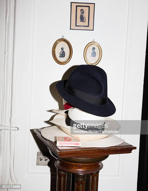 Cofounder of Rabih Kayrouz Constance Rebholz's hats are photographed for Madame Figaro on June 6 2016 in Paris France PUBLISHED IMAGE CREDIT MUST...