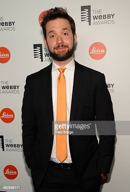 Cofounder of Reddit Alexis Ohanian poses backstage at the 18th Annual Webby Awards on May 19 2014 in New York City