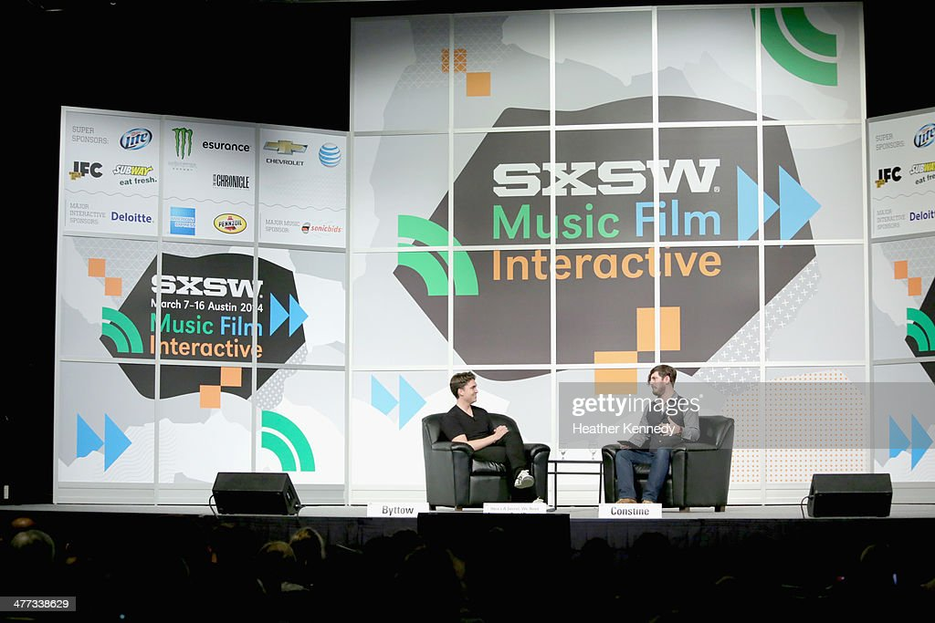 Co-founder of Secret David Byttow and writer Josh Constine speak onstage at 'Here's a Secret: We Need Anonymous Social Networks' during the 2014 SXSW Music, Film + Interactive Festival at Austin Convention Center on March 8, 2014 in Austin, Texas.