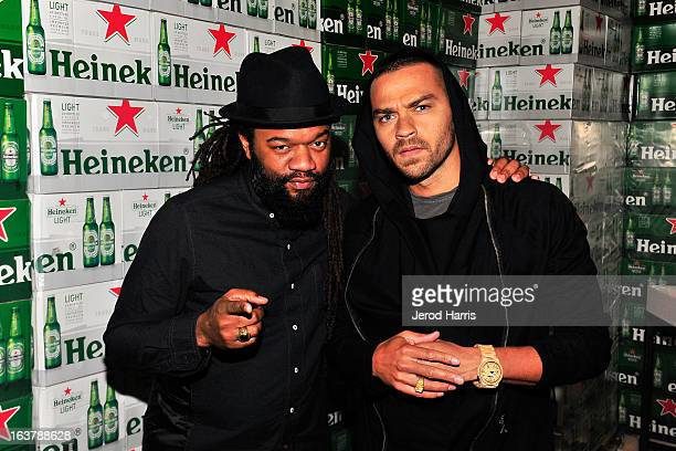 Cofounder of Team Epiphany Coltrane Curtis and actor Jesse Williams attend the Heineken Star Bottle Launch Dinner on March 15 2013 in Los Angeles...