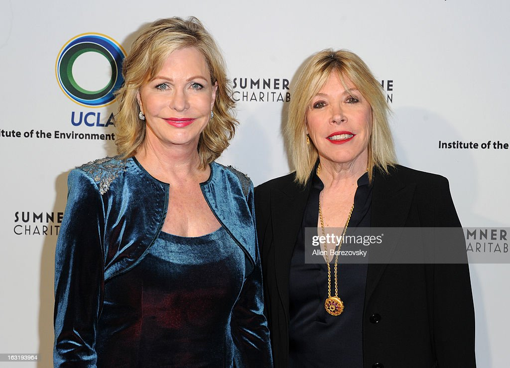 Co-founder of the Environmental Media Association Lyn Lear and Debbie Levin attend UCLA Institute Of The Environment And Sustainability's 2nd Annual 'An Evening Of Environmental Excellence' - Arrivals on March 5, 2013 in Beverly Hills, California.