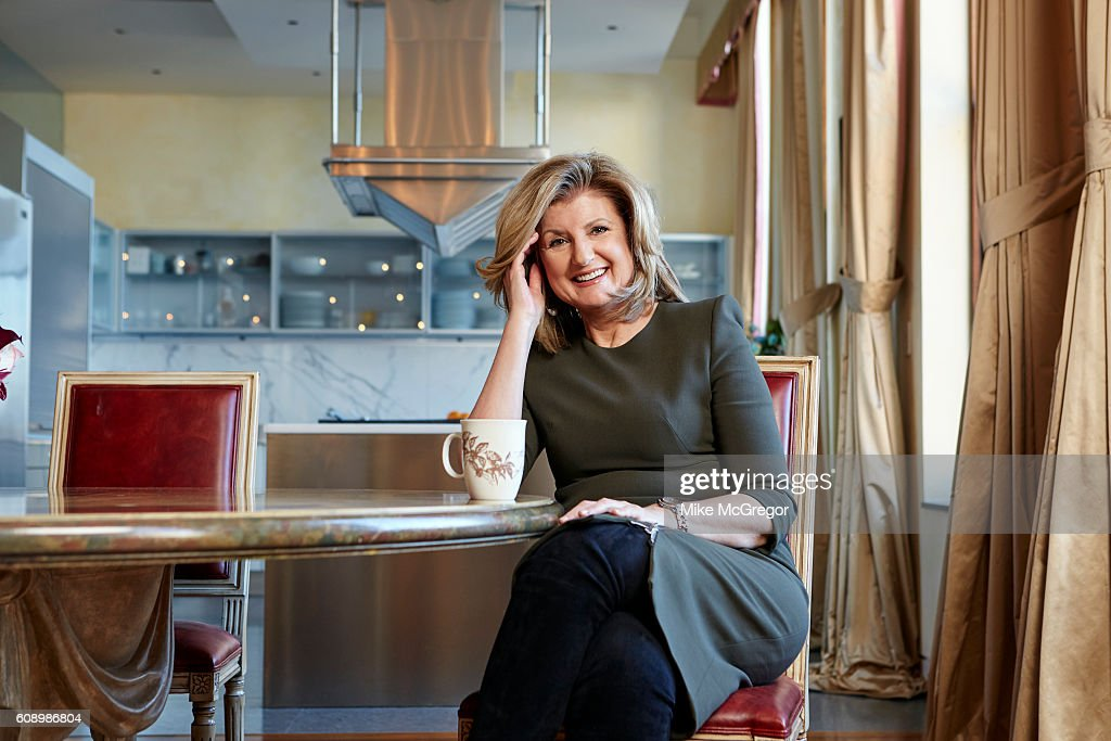 Co-founder of the Huffington Post, Arianna Huffington is photographed for The Guardian Magazine on January 11, 2016 at home in New York City.