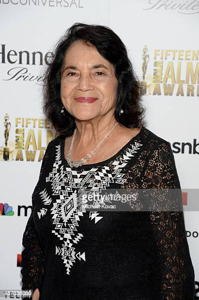Cofounder of the National Farmworkers Association Dolores Huerta attends the 2014 NCLR ALMA Awards Producer's Post Party at the The Langham...