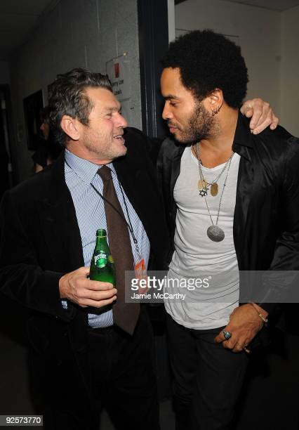 *EXCLUSIVE* Cofounder of the Rock Hall and publisher of Rolling Stone magazine Jann Wenner and Lenny Kravitz attend the 25th Anniversary Rock Roll...