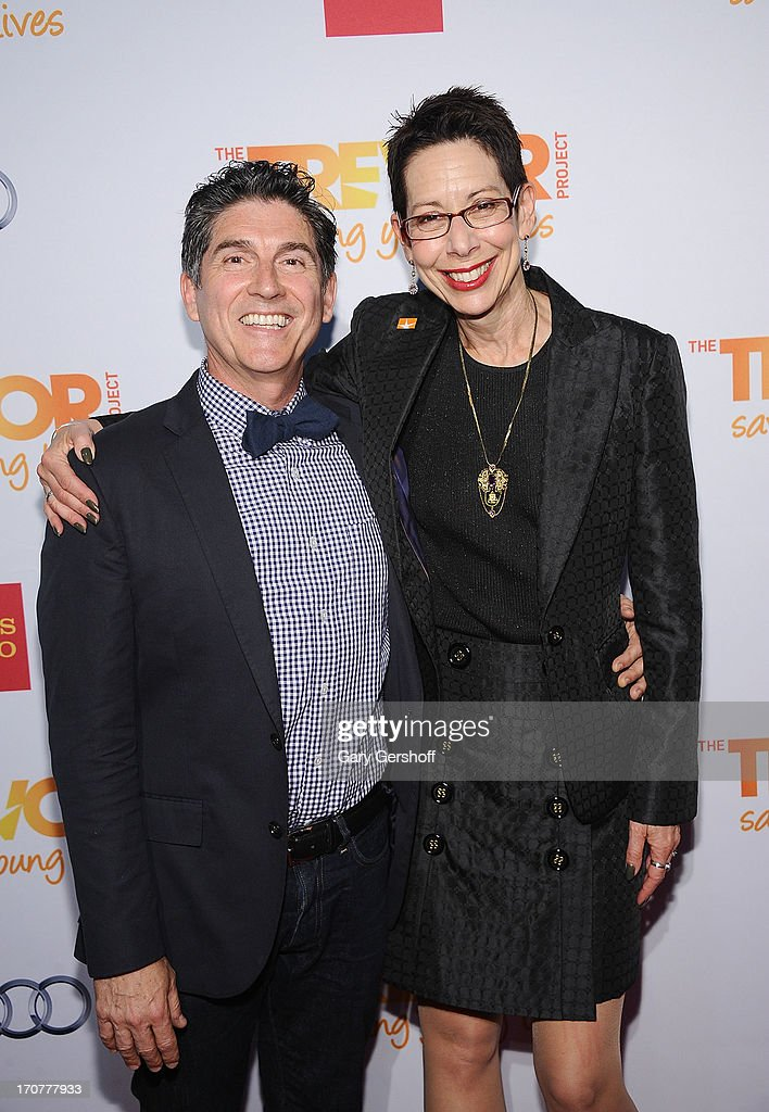 Co-Founder of The Trevor Project, James Lecesne (L) and Director/CEO of The Trevor Project, Abbe Land attend TrevorLIVE New York at Pier Sixty at Chelsea Piers on June 17, 2013 in New York City.