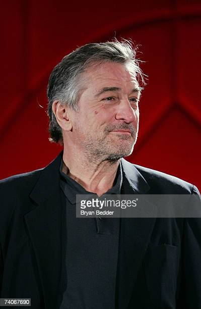 Cofounder of the Tribeca Film Festival Robert De Niro presents the cofounders award for best narrative feature onstage at the 2007 Tribeca Film...