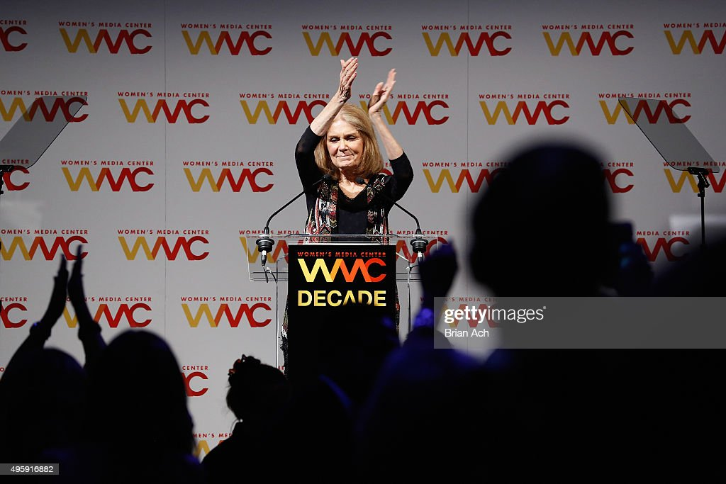 Co-founder of The Women's Media Center, Gloria Steinem speaks onstage during The Women's Media Center 2015 Women's Media Awards on November 5, 2015 in New York City.