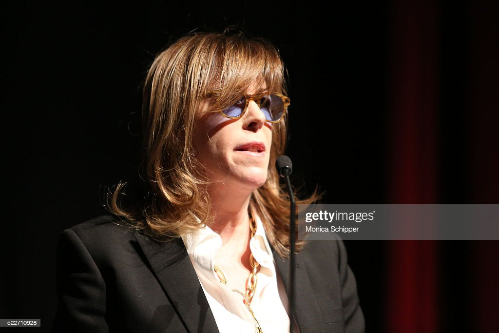 CoFounder of Tribeca Enterprises Jane Rosenthal speaks on stage during Tribeca Talks Storytellers Francis Ford Coppola With Jay McInerney at SVA...