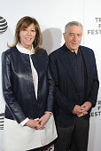 CoFounder of Tribeca Film Festival Jane Rosenthal and Actor Robert De Niro attend 'Equals' Red Carpet Premiere Night during Tribeca Film Festival at...