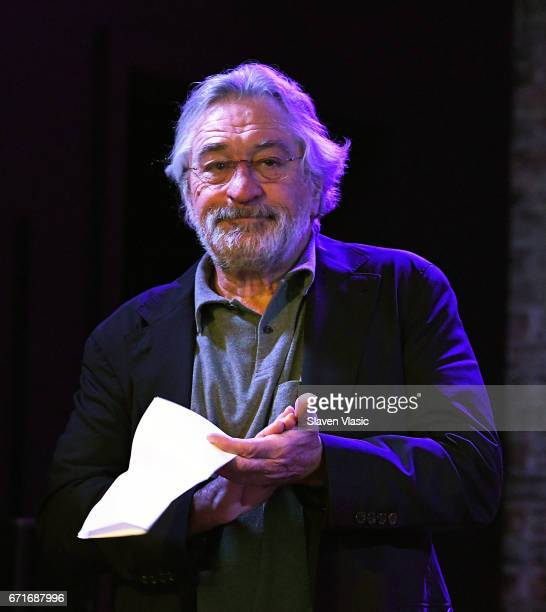 Cofounder of Tribeca Film Festival Robert De Niro attends Director's Brunch at 2017 Tribeca Film Festival at City Winery on April 22 2017 in New York...