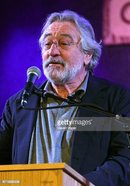 Cofounder of Tribeca Film Festival Robert De Niro attends Director's Brunch at 2017 Tribeca Film Festival at City Winery on April 22 2017 in New York...