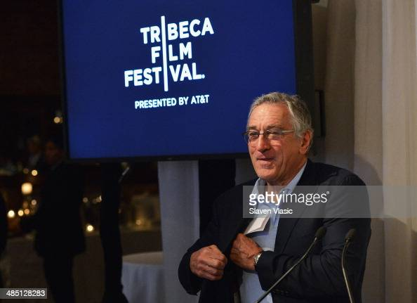 Cofounder of Tribeca Film Festival Robert De Niro attends Opening Press Lunch for 2014 Tribeca Film Festival at Thalassa on April 16 2014 in New York...
