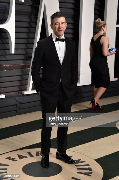 Cofounder of Uber Travis Kalanick attends the 2017 Vanity Fair Oscar Party hosted by Graydon Carter at Wallis Annenberg Center for the Performing...