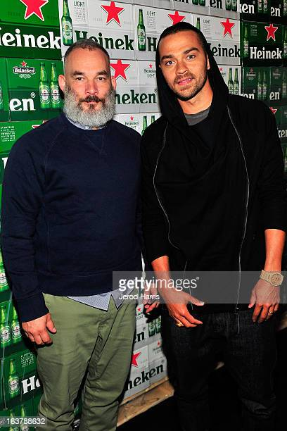 Cofounder of Undefeated James Bond and actor Jesse Williams attend the Heineken Star Bottle Launch Dinner on March 15 2013 in Los Angeles California