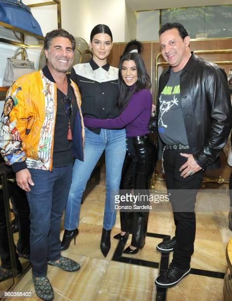 Cofounder of What Goes Around Comes Around Gerard Maione Kendall Jenner Kourtney Kardashian and cofounder of What Goes Around Comes Around Seth...