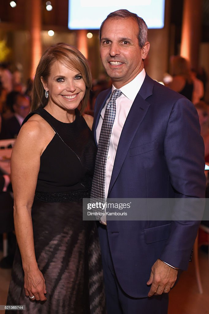CoFounder SU2C Council of Founders and Advisors Katie Couric and John Molner attend Stand Up To Cancer's New York Standing Room Only presented by...