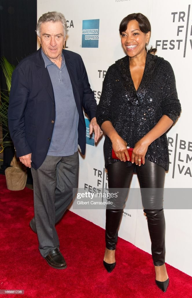 Co-Founder Tribeca Film Festival Robert De Niro and wife Grace Hightower attend the 'Mistaken for Strangers' premiere during the opening night of the 2013 Tribeca Film Festival at BMCC Tribeca PAC on April 17, 2013 in New York City.