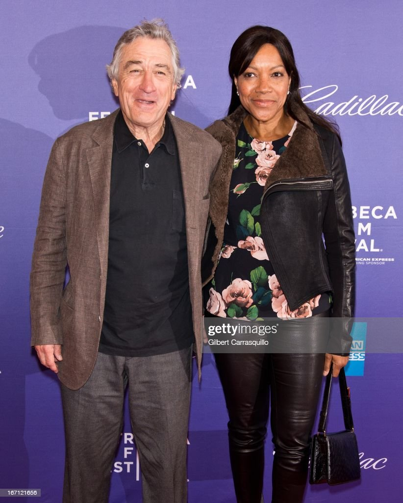 Co-Founder Tribeca Film Festival <a gi-track='captionPersonalityLinkClicked' href=/galleries/search?phrase=Robert+De+Niro&family=editorial&specificpeople=201673 ng-click='$event.stopPropagation()'>Robert De Niro</a> and wife <a gi-track='captionPersonalityLinkClicked' href=/galleries/search?phrase=Grace+Hightower&family=editorial&specificpeople=211382 ng-click='$event.stopPropagation()'>Grace Hightower</a> attend the screening of 'I Got Somethin' to Tell You' during the 2013 Tribeca Film Festival at SVA Theater on April 20, 2013 in New York City.
