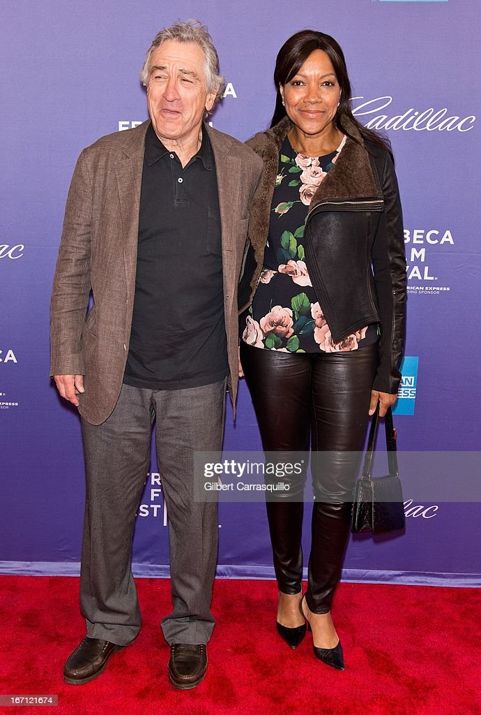 Co-Founder Tribeca Film Festival Robert De Niro and wife <a gi-track='captionPersonalityLinkClicked' href=/galleries/search?phrase=Grace+Hightower&family=editorial&specificpeople=211382 ng-click='$event.stopPropagation()'>Grace Hightower</a> attend the screening of 'I Got Somethin' to Tell You' during the 2013 Tribeca Film Festival at SVA Theater on April 20, 2013 in New York City.