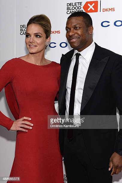 CoFounder/Board member of Delete Blood Cancer Katharina Harf and Chris Tucker attend the 2014 Delete Blood Cancer Gala Honoring Evan Sohn and the...