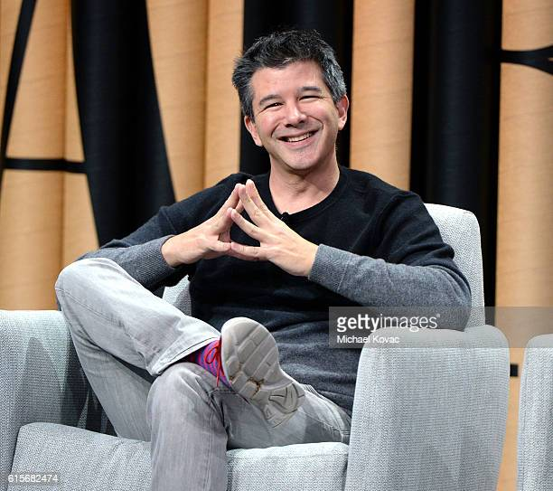Cofounder/CEO of Uber Travis Kalanick speaks onstage during 'The Übermensch' at the Vanity Fair New Establishment Summit at Yerba Buena Center for...