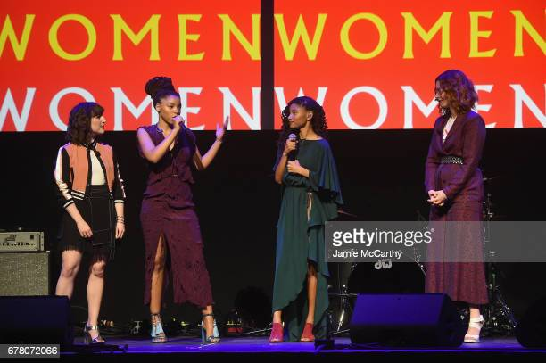 CoFounder/Executive Creative Director Piera Gelard Chloe x Halle and CoFounder/Global Editor in Chief Christene Barberich speak onstage at...