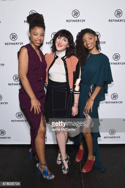 CoFounder/Executive Creative Director Piera Gelardi and Chloe x Halle attend Refinery29's Newfronts presentation OUR PARTY IS WOMEN on May 3 2017 in...