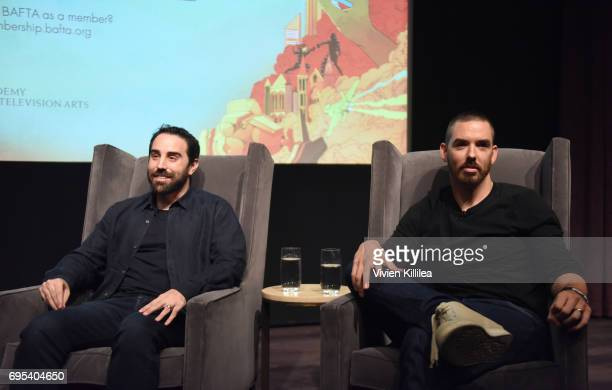 Cofounders and coCEOs of Riot Games Brandon Beck and Marc Merrill speak at BAFTA Honours Riot Games with Special Award at The London West Hollywood...