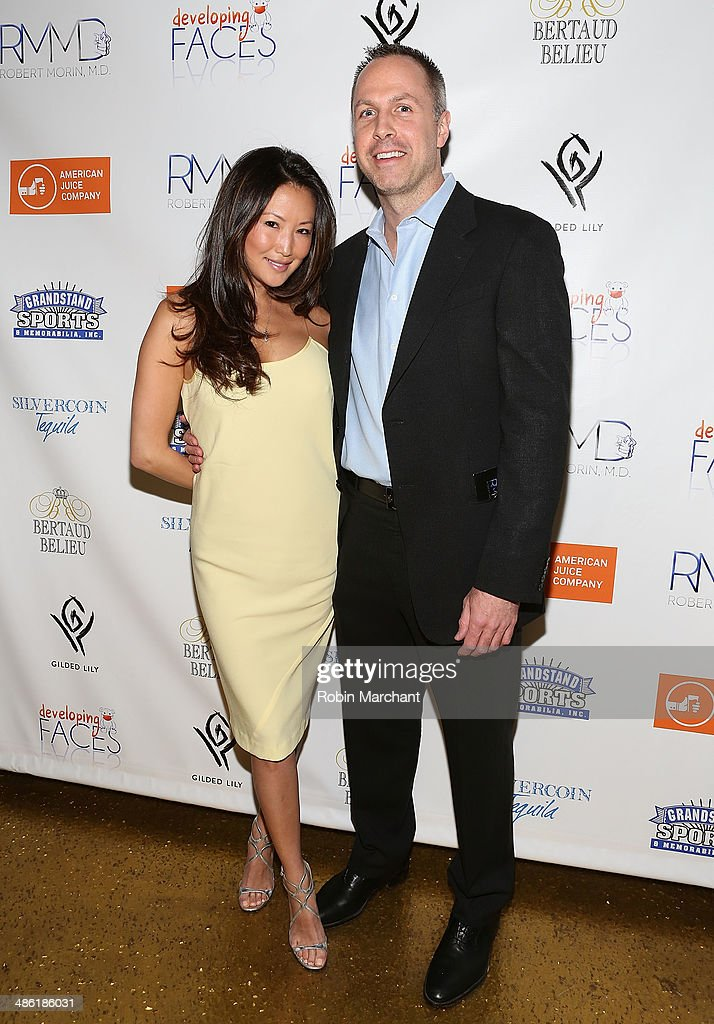 Co-Founders of Developing Faces Susan Kim (L) and Rob Morin attend Developing Faces Spring Charity Event on April 22, 2014 in New York City.