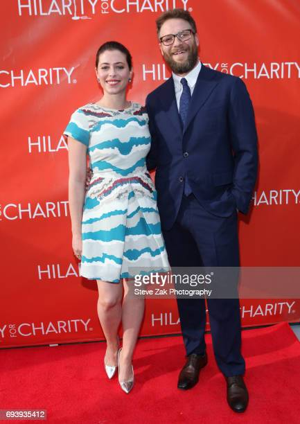 CoFounders of HFC Lauren Miller Rogen and Seth Rogen attend 3rd Annual Hilarity For Charity New York City Variety Show at Webster Hall on June 8 2017...