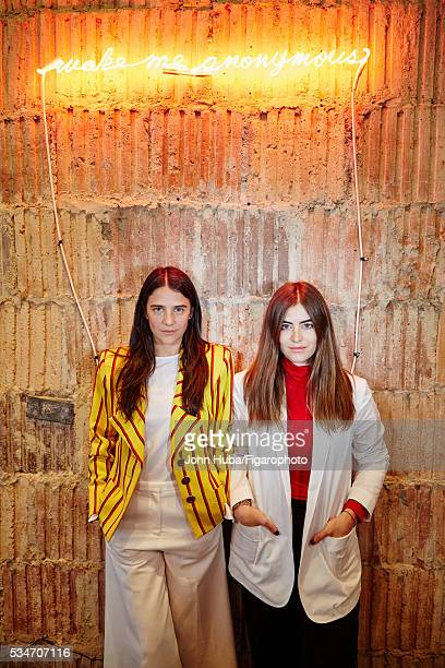 Cofounders of NeueHouse Phoebe and Annette Stephens are photographed for Madame Figaro on April 22 2016 in New York City PUBLISHED IMAGE CREDIT MUST...