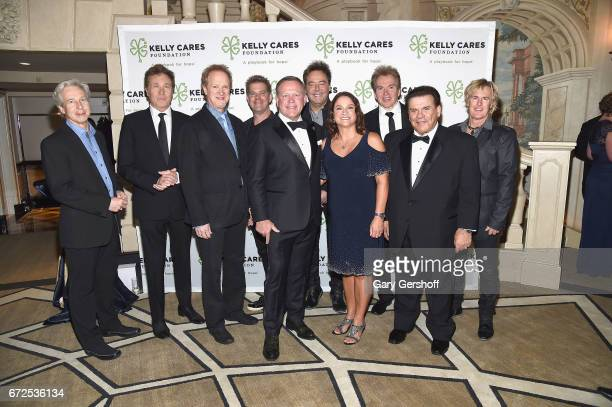 Cofounders of The Kelly Cares Foundation Brian Kelly Paqui Kelly Chicago band manager Peter Schivarelli Chicago band members Nick Lane Robert Lamm...