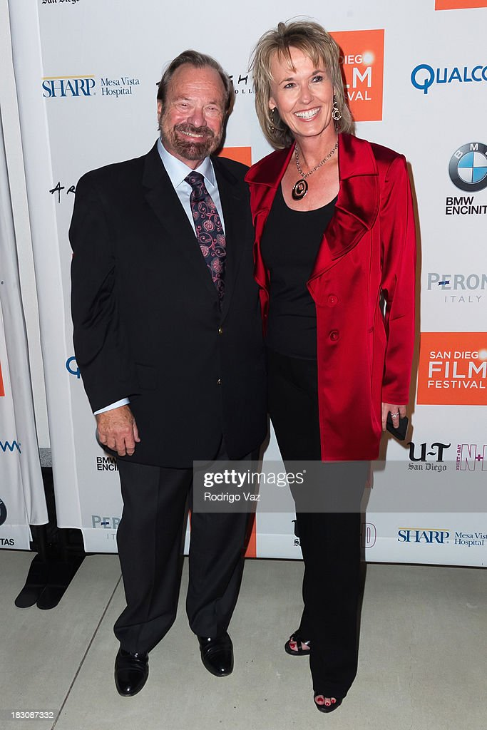 Co-Founders of the SDFF Dale Streck (L) and Tonya Mantooth arrive at San Diego Film Festival's tribute to honor Judd Apatow at Museum of Contemporary Art on October 3, 2013 in La Jolla, California.