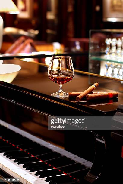 Cognac & Cigars on Piano