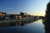 Cognac with Charente River, France.