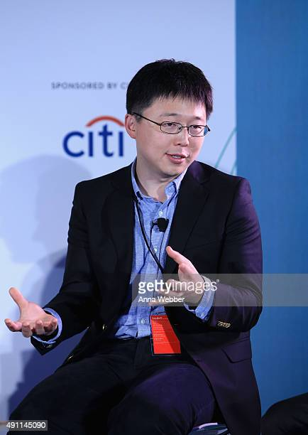 Cognitive Sciences and Biological Engineering at the Massachusetts Institute of Technology Feng Zhang speaks on stage during The New Yorker Festival...
