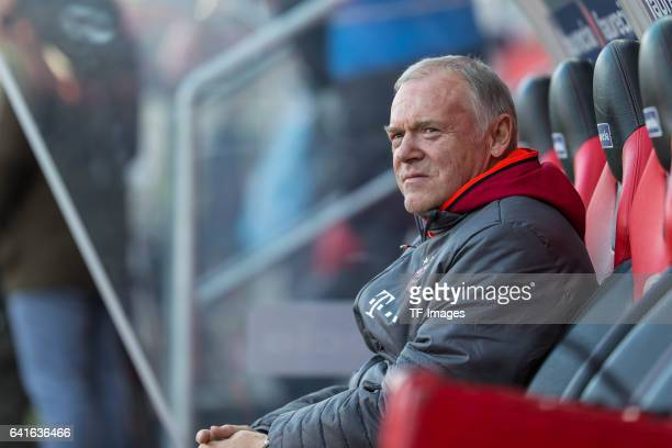 CoHead couch Hermann Gerland of Bayern Muenchen looks on during the Bundesliga match between FC Ingolstadt 04 and Bayern Muenchen at Audi Sportpark...
