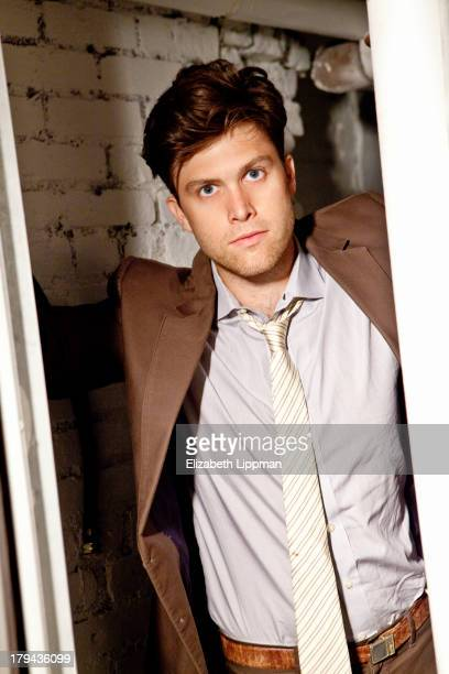 Cohead writer for SNL Colin Jost is photographed for Boston Globe on July 24 2013 in New York City