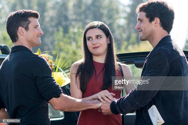 IMPOSTERS 'Cohen Lenny Cohen' Episode 104 Pictured Parker Young as Richard Marianne Rendon as Jules Rob Heaps as Ezra