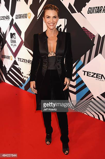 Cohost actress Ruby Rose attends the MTV EMA's 2015 at the Mediolanum Forum on October 25 2015 in Milan Italy