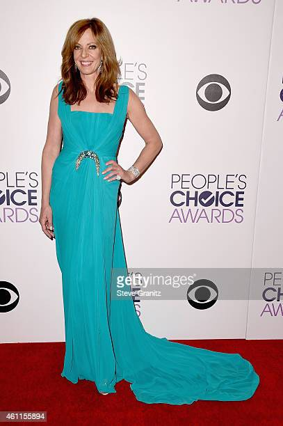 Cohost Allison Janney poses in the press room at the 41st Annual People's Choice Awards at Nokia Theatre LA Live on January 7 2015 in Los Angeles...