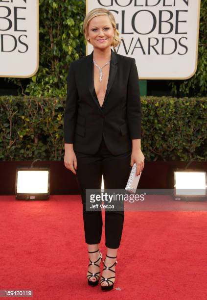 Cohost Amy Poehler arrives at the 70th Annual Golden Globe Awards held at The Beverly Hilton Hotel on January 13 2013 in Beverly Hills California