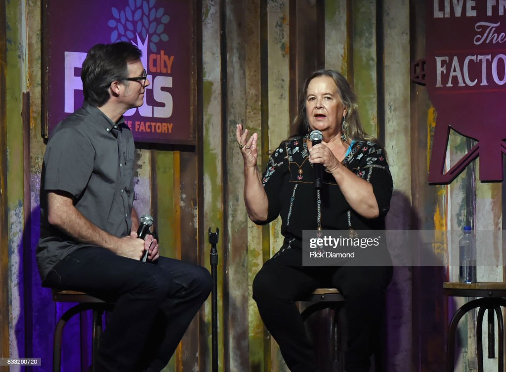 Co-Host Craig Havighurst with Singer/Songwriter Tracy Nelson during Music City Roots at The Factory At Franklin on August 16, 2017 in Franklin, Tennessee.