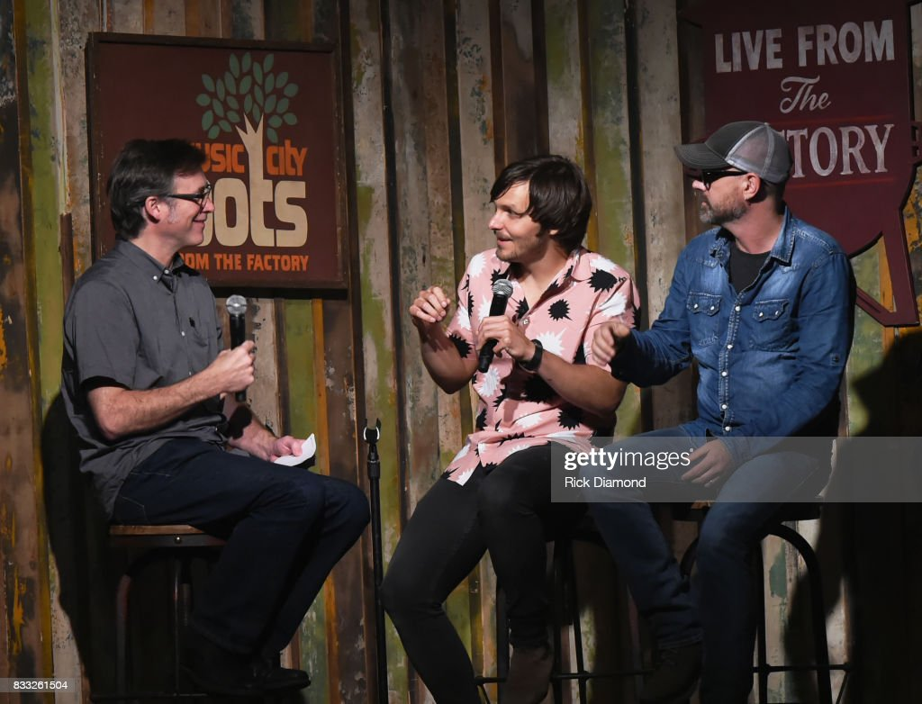 Co-Host Craig Havighurst with Singer/Songwriters Charlie Worsham and Jon Randall during Music City Roots at The Factory At Franklin on August 16, 2017 in Franklin, Tennessee.